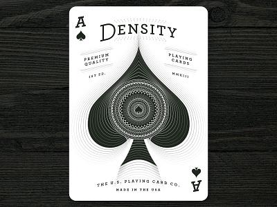 Ace of Spades densitydeck playing cards ace spades kickstarter