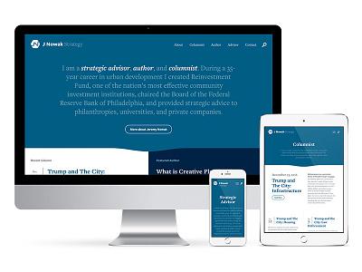 J Nowak Strategy wordpress responsive graphicdesign webdesign
