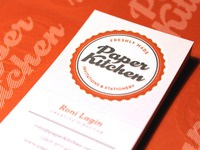 Paper Kitchen Business Card