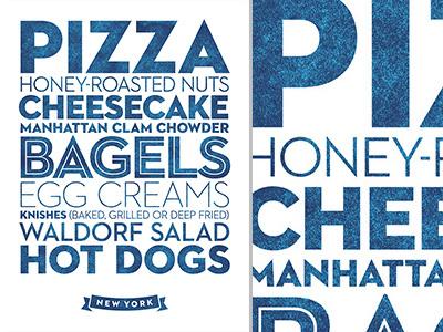 New York ~ Delicious City Prints poster new york