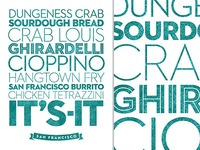 San Francisco ~ Delicious City Prints