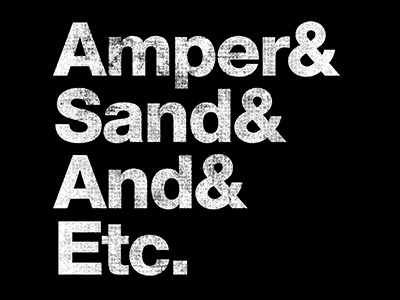 And& tee typography ampersand
