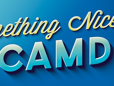 Say Something Nice About Camden Logo logo shadow billboard