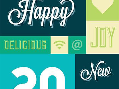 2013 > 2012 typography