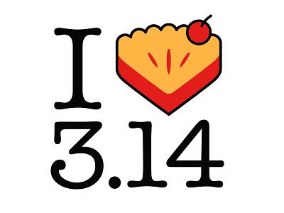 I Heart Pi(e) tee pie pi 3.14 tshirt white