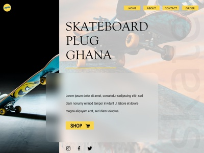 SKATEBOARD webdesign web design web skateboard skate shop glassmorphism glass morphism design ui