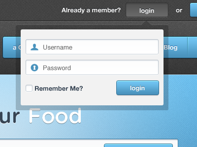 Username Password login form input field ui ux blue dark sexy helvetica helvetica neue login button