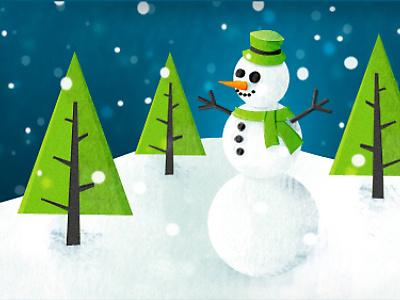 Snowman Illustration snowman illustration being nostalgic
