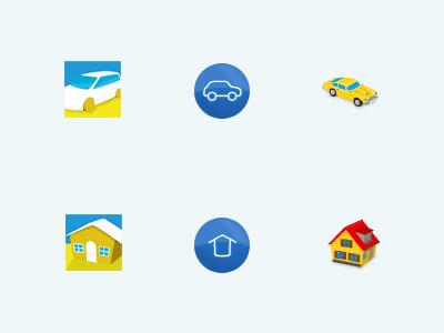 Catalog Icons house car icon design being nostalgic