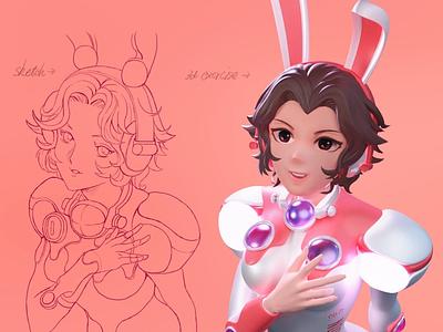 Bunnylady zbrush