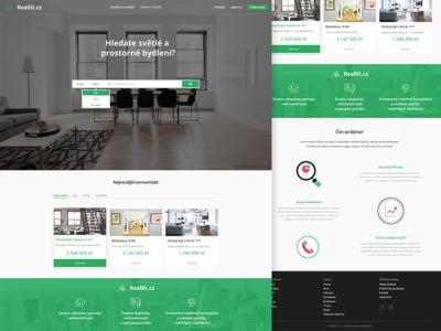 Reallit redesign black white modern green slovakia czech house flat sell rent rental reallit