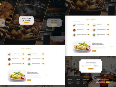 Restaurant design food modern yellow clean restaurant idea