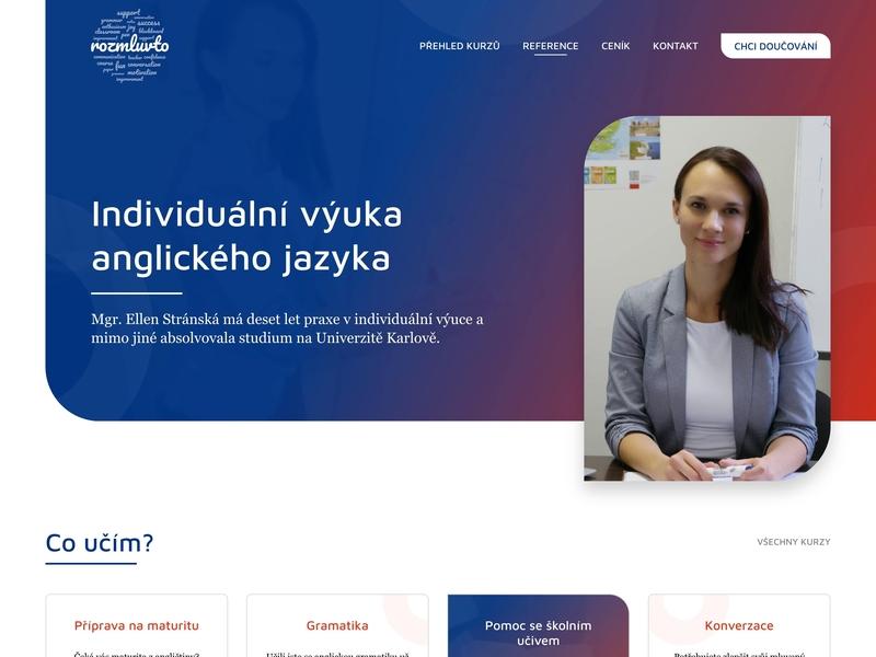 Rozmluvto.cz - WordPress site wordpress design lesson teaching red blue webdesign website wordpress design white modern