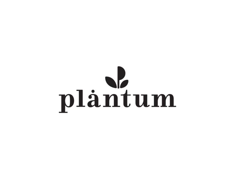 Logo for Plantum simple symbol vegetable logo