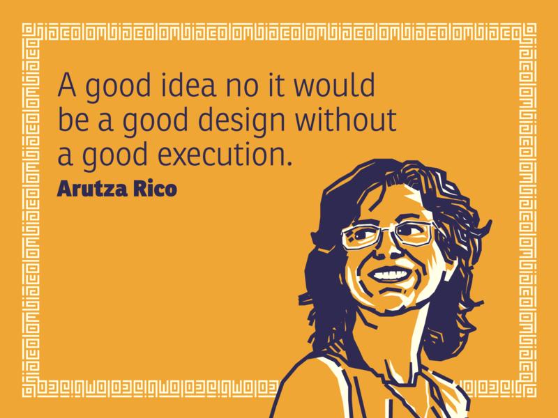 Arutza Rico portrait illustration colombia designer quote