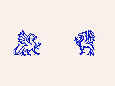 Mythos 1 heraldry vector lines blue illustration