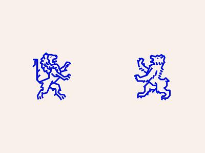Mythos 2 heraldry blue illustration vector lines