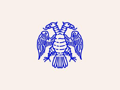 Mythos 6 icon heraldry graphic vector lines blue illustration