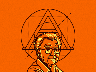 Adrian Frutiger noblanco drawing illustration brown orange lines hero graphic designer adrian frutiger