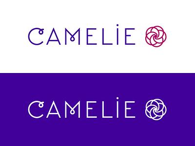 Camelie Logo red violet women symbol letters corporate brand logo