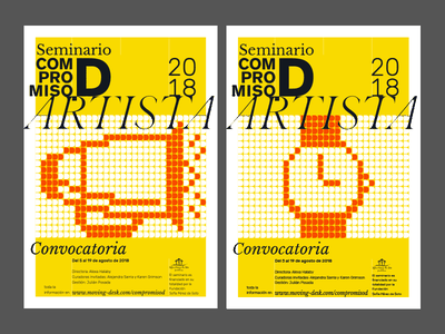 Compromiso.D Posters orange yellow submission call poster