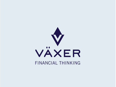 VÄXER blue symbol brand logo