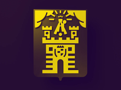 Coat Arms, Medellin Colombia design noblanco vector 3d animation logo yellow castle coatofarms colombia medellin arms coat