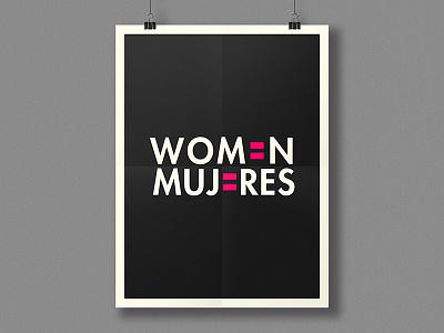 Women's Day 8m mujeres women grey pink black typography poster