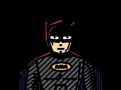 Batmanniversary fanart black illustration batman