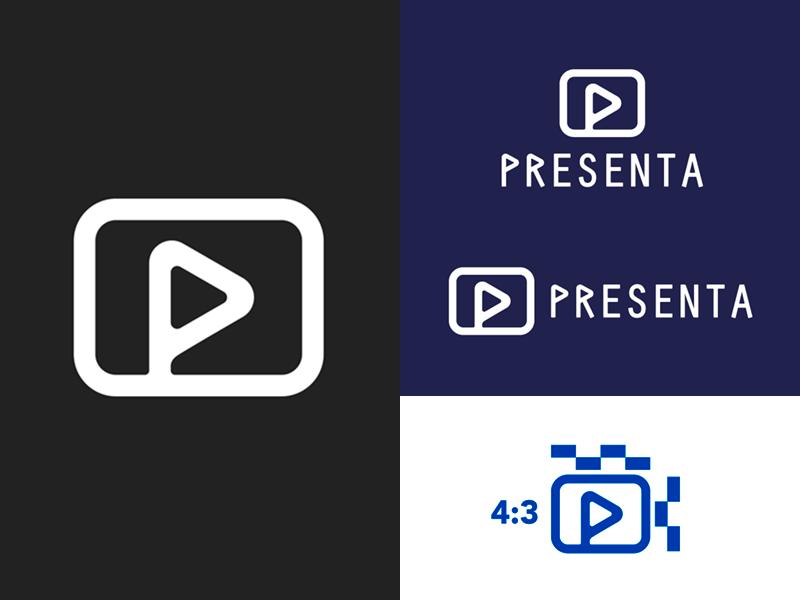 Presenta Logo blue presentation course brand logotype logo