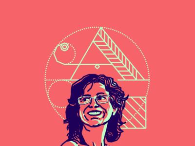 Arutza Rico designer colombian blue pink vector illustration portrait