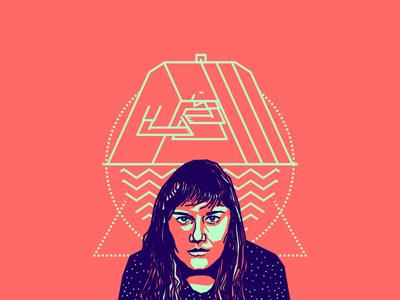 Ana Lopez friend designer colombian blue pink vector illustration portrait