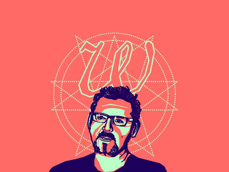 Wolfgang portrait vector video blue colombian designer friend
