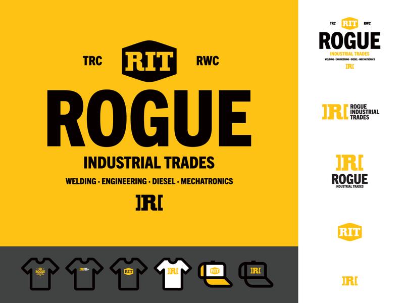 Rogue Industrial Trades Identity - Direction 1 industrial logo lettermark branding identity design brand identity symbol logo design trademark logo