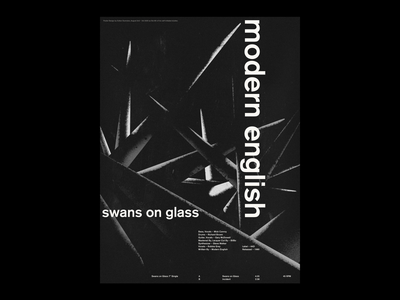 Modern English - Swans on Glass - Poster graphic design print design post-punk modern english swiss design swiss poster swiss style poster