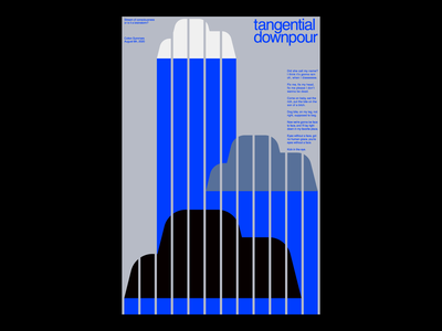 Tangential Downpour vector swiss style swiss poster swiss design rain poster modernism minimal illustration illustration clouds