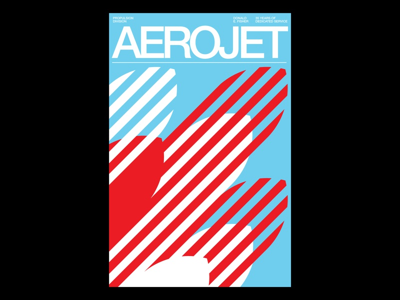 Aerojet Poster helvetica vector international style swiss style swiss design swiss poster poster modernism minimal illustration illustration