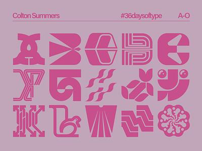 36daysoftype A-O branding experimental type 36daysoftype vector illustration type design lettermark symbol trademark logo design logo