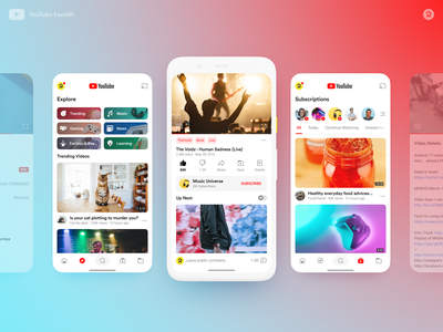 YouTube Facelift app user interface material design youtube google android ux ui design application mobile