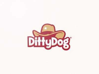 Ditty Dog star dog playful fun hat food hotdog texas illustraion design logo