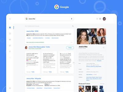 Google search results face-lift. ui  ux design clean simple design redisign web deisgn material design results search chrome google