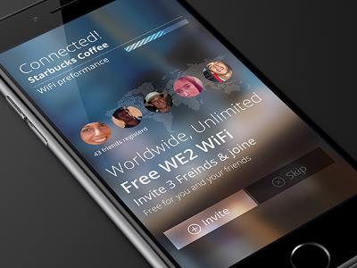 We2 social wi-fi mobile app issi dvir friendly social app design app ux mobile