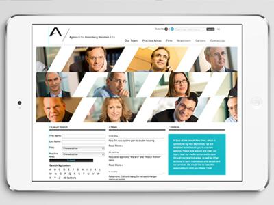 Website Agmon & Co. Rosenberg Hacohen & Co. corporate law firm dynamic logo branding website design