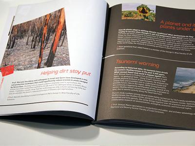 TAU 2013 Annual report issi dvir annual report branding magazine concept typography