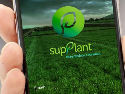 Supplant App app logo design branding