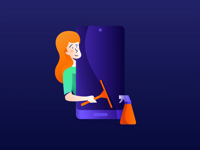 Avast Cleanup - First Run animations after effects cleaner cleanup avast lottie animation ui illustration design app