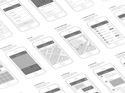 Mobl Wireframe Kit mockup wireframe light element mobile app