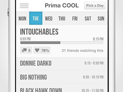 TV Freak - Pick a Day tv app design ui iphone ios calendar