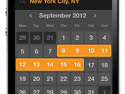 Calendar App ios iphone calendar ui pick