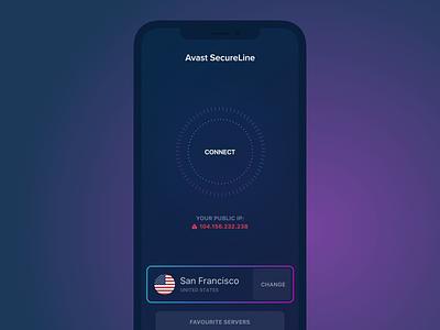 VPN Concept connecting vpn design concept animation app